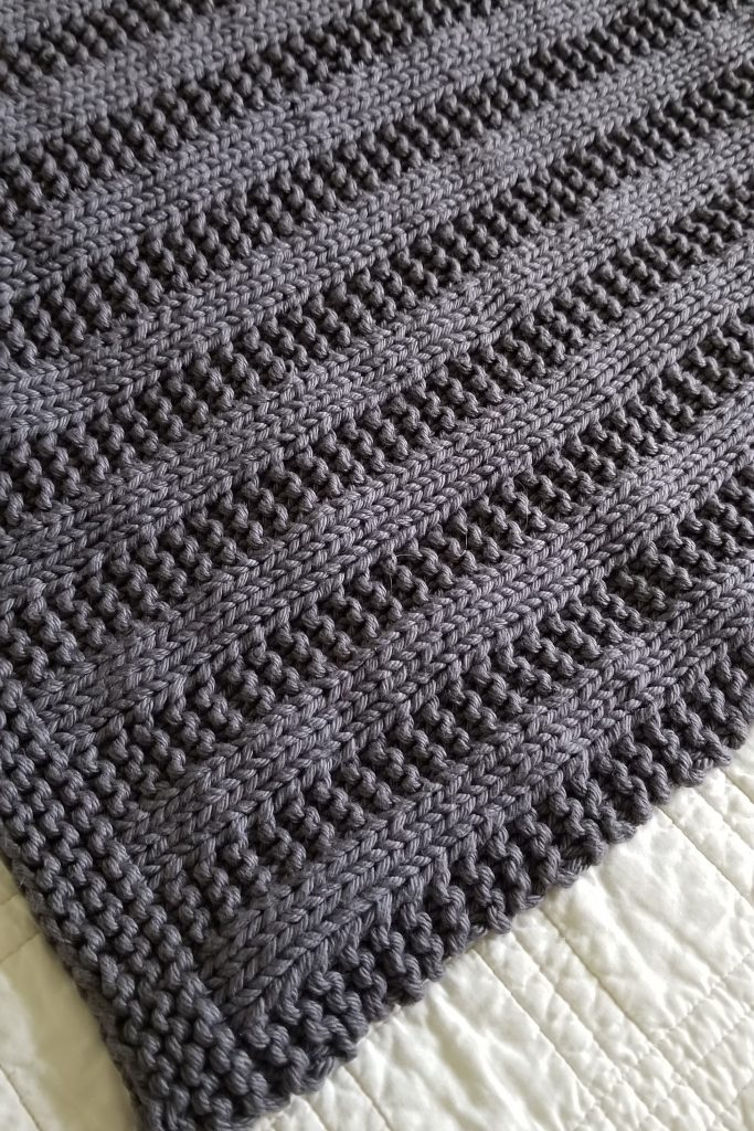 Darby knitted baby blanket sample photo