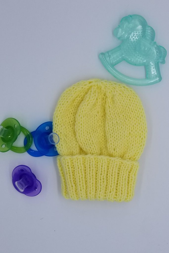 Cascade knitted baby hat