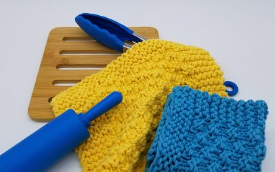 East Flat Dishcloth Knitting Pattern