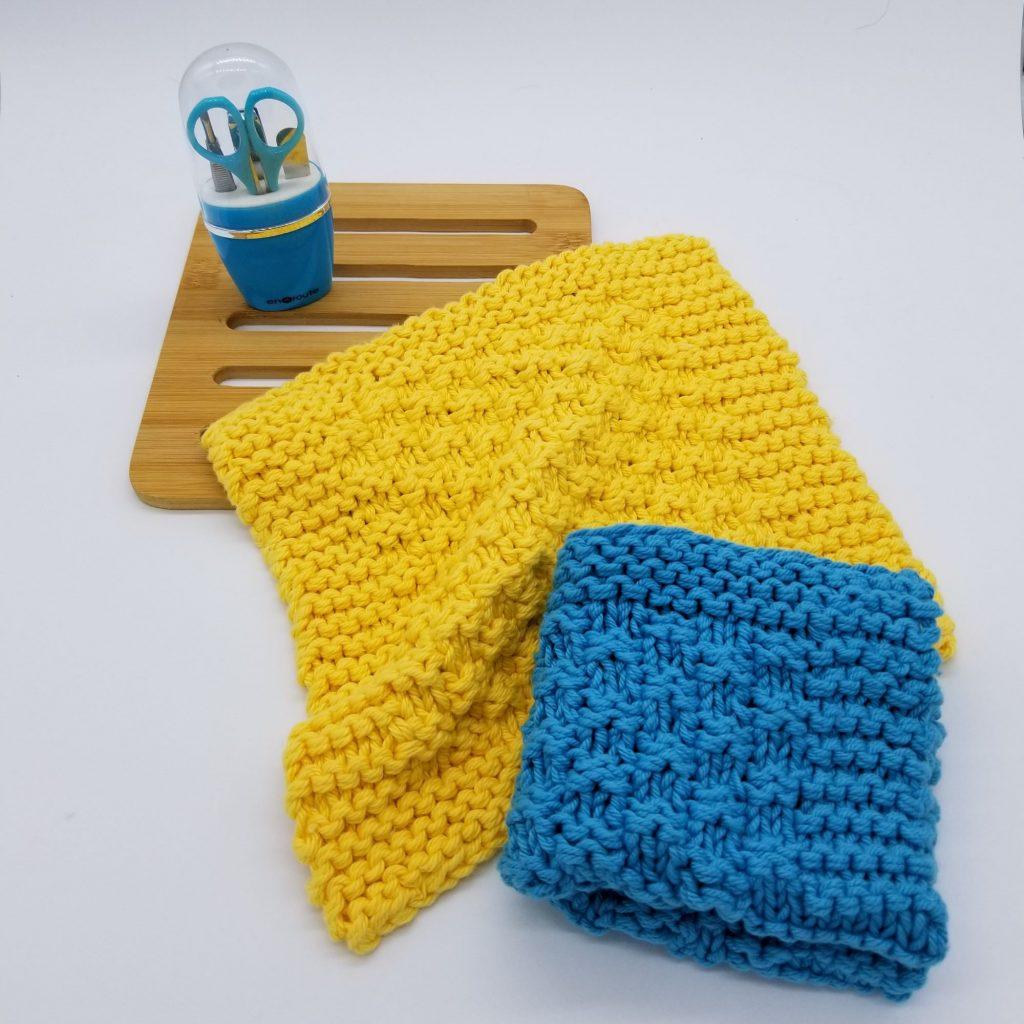 East Flat Dishcloth Knitting Pattern
