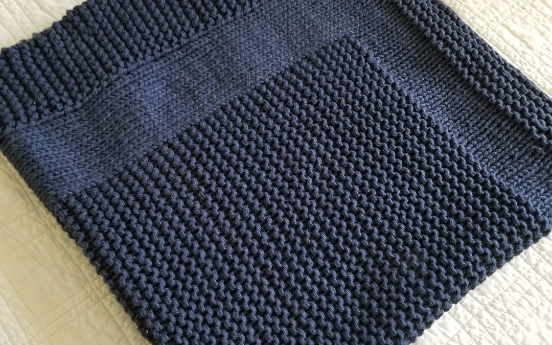 Picture Rock Knitted Baby Blanket Pattern