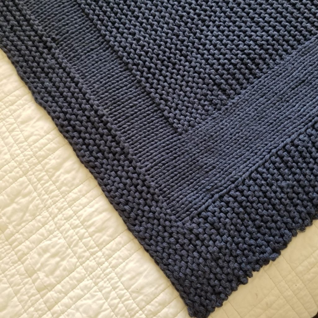 Picture Rock knitted baby blanket pattern picture