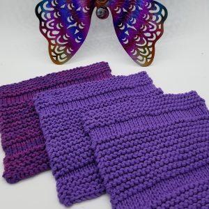 Washcloth knitting pattern sample