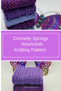 Washcloth knitting pattern knitted sample