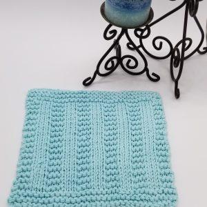 Cedar Rock Knitted Washcloth Pattern