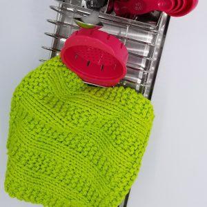 Cedar Rock Knitted Washcloth & Dishcloth Pattern